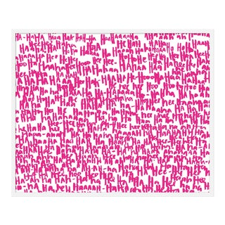 """haha Pink One"" Print by Kate Roebuck, 41"" X 31"""