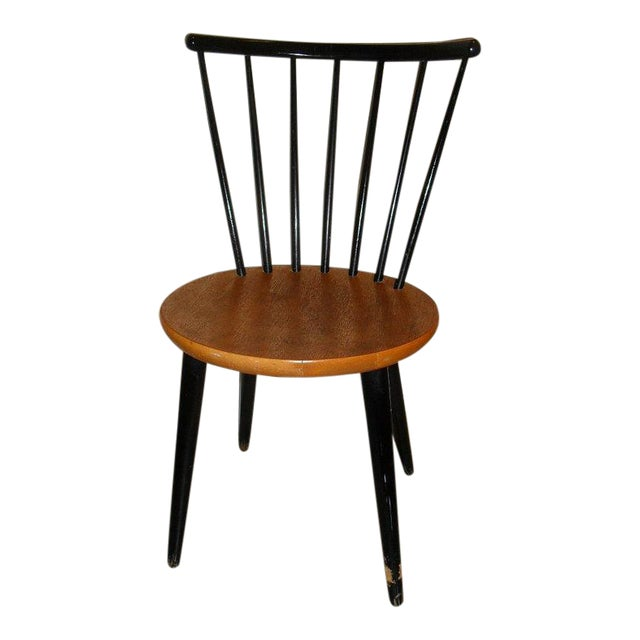 Danish Modern 1950's Teak Spindle Back Chair - Image 1 of 6