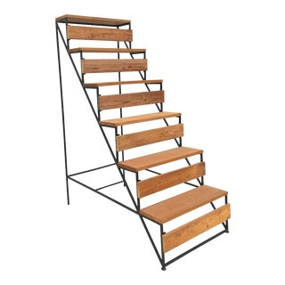 Modern Staircase Style Bookshelf or Plantstand For Sale