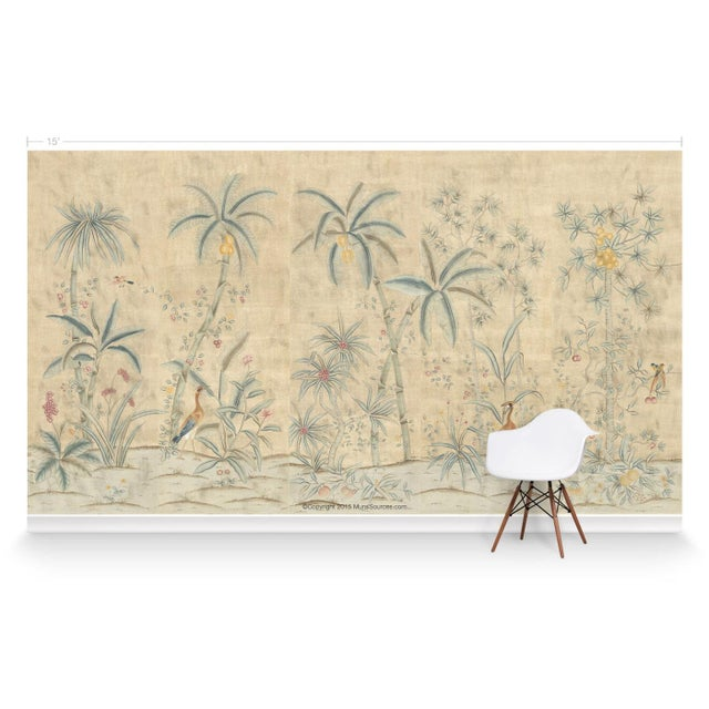 Chinoiserie Casa Cosima Maya Antiqued Mural - Sample For Sale - Image 3 of 5