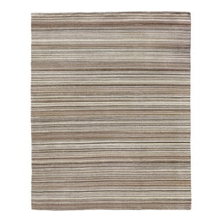 Exquisite Rugs Northampton Hand Loom Wool Ivory & Gray - 9'x12' For Sale