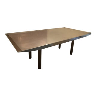 Single Piece Stainless Dining Table