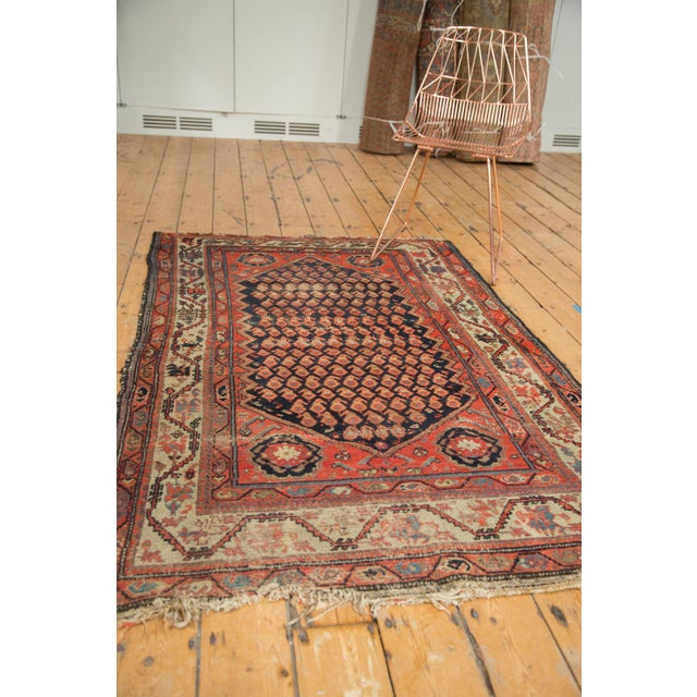 "Antique Hamadan Rug - 4' x 6'3"" For Sale - Image 10 of 11"