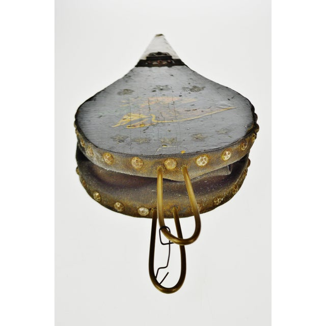 Canvas Early American Eagle Decorated Fireplace Bellows For Sale - Image 7 of 11