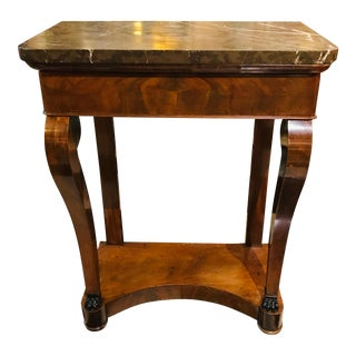 Empire Marble Top Console For Sale