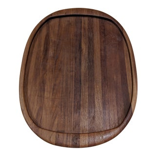 1960s Mid-Century Danish Teak Cutting Board Tray by Digsmed Denmark For Sale