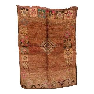 "Boujad Vintage Moroccan Rug, 5'11"" X 8'1"" Feet For Sale"