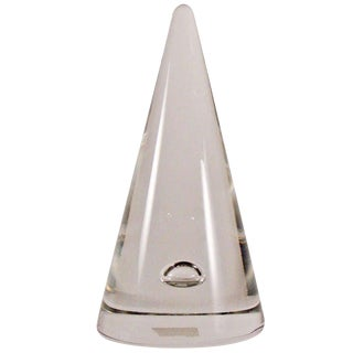 Mmurano Alfredo Barbini Conical Glass Sclpture For Sale