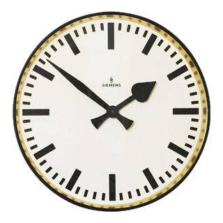 Large Industrial Wall Clock from Siemens, 1950s For Sale