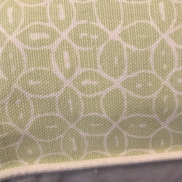 Quadrille Melong Celadon Linen Pillows - A Pair For Sale - Image 5 of 8
