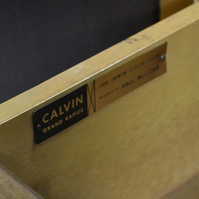 Paul McCobb Cabinets/ Credenzas with TravertineTops by Calvin For Sale - Image 9 of 11