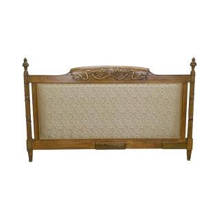 French Regence Vintage Custom Quality King Size Headboard W/ Newer Upholstery
