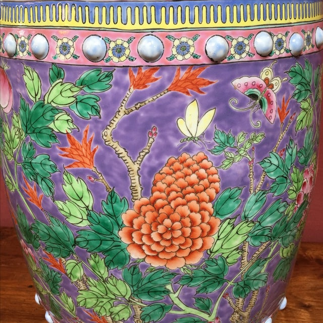 Pastel Colored Chinese Garden Stools - A Pair - Image 6 of 10