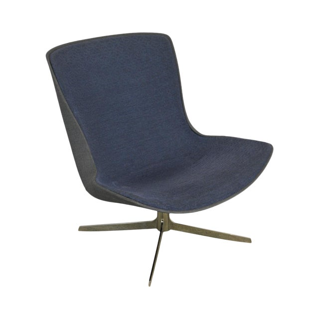Monica Forster for Bernhardt Chrome Base Swivel Vika Lounge Chair For Sale