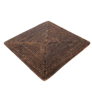 """Boho Chic Rattan Square Placemat 15""""x15"""" For Sale"""