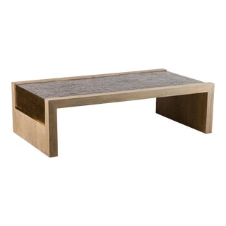 Paul Marra Rustic Modern Waterfall Table For Sale