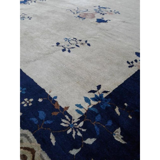 Hand knotted of top-quality wool and cotton in the 1910s. This extremely fine rug is an eye-catching example that...