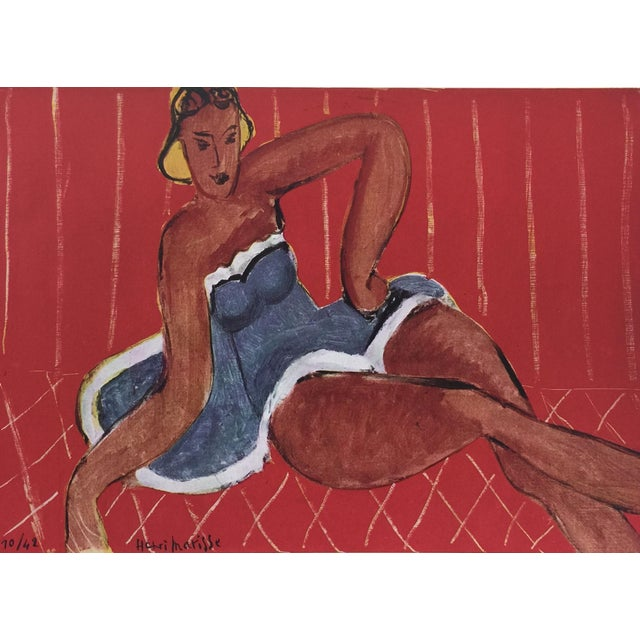 Blue 1943 Matisse Portfolio Lithographic Prints Book For Sale - Image 8 of 13
