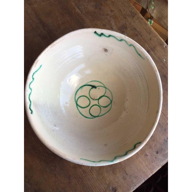 Antique Italian Rustic Glazed Terracotta Bowl For Sale In Kansas City - Image 6 of 6