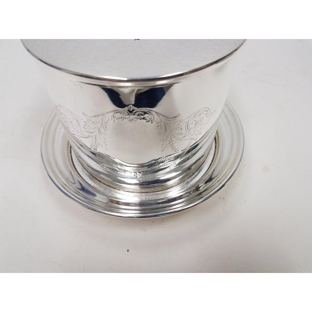 Late 19th Century Antique English Silverplate Biscuit Container - Elkington For Sale - Image 5 of 8