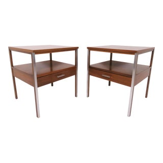 Pair of Paul McCobb for Calvin Linear Group End Tables, Circa 1950s For Sale