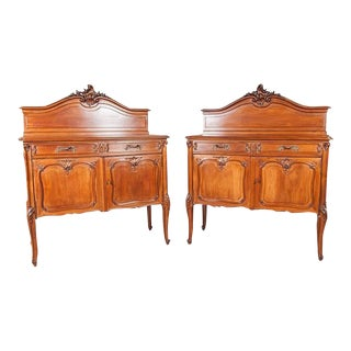 Frédéric Schmit Antique French Louis XV Style Rococo Revival Buffets - a Pair For Sale
