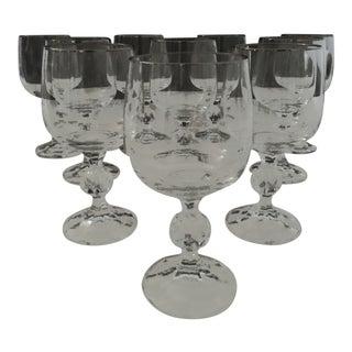 Mid Century Wine Glasses - Set of 10 For Sale
