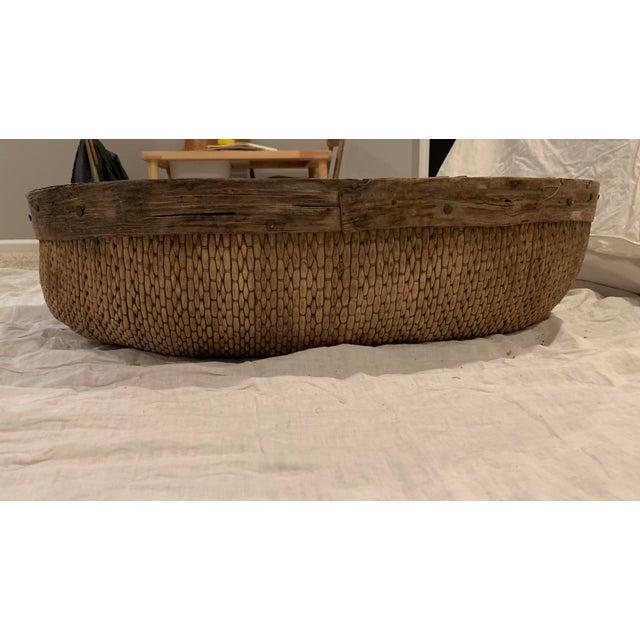 1950s Vintage Asian Market Basket For Sale - Image 5 of 9