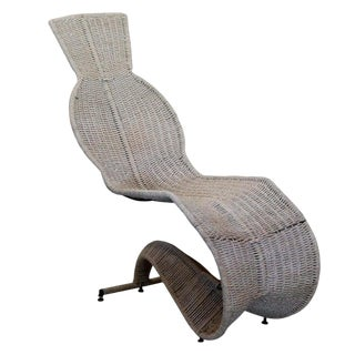 Dixon Bolide Wicker Chaise, London, 1991 For Sale