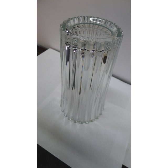 French 20th Century French Crystal Vase For Sale - Image 3 of 8