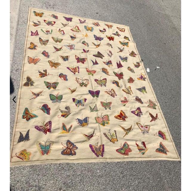 "Handmade Butterfly Kilim Rug - 6'9"" x 9'10"" - Image 2 of 3"