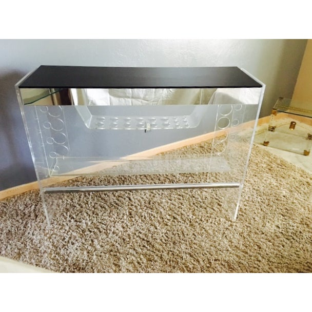 Lucite Hollywood Regency Lighted Bar Table - Image 3 of 8