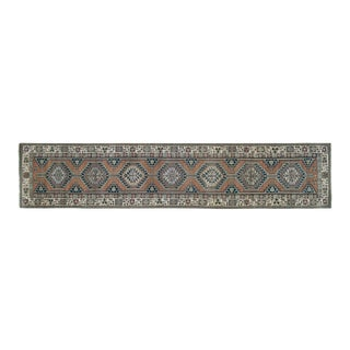 """Distressed Turkish Oushak Runner 2'7"""" X 12'8"""" For Sale"""