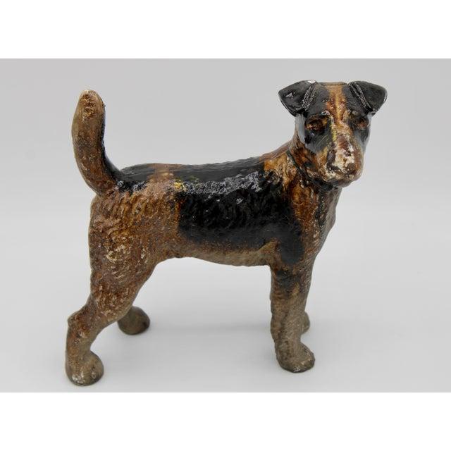 Antique Cast Iron Hubley Dog Door Stop / Garden Statue For Sale - Image 12 of 13