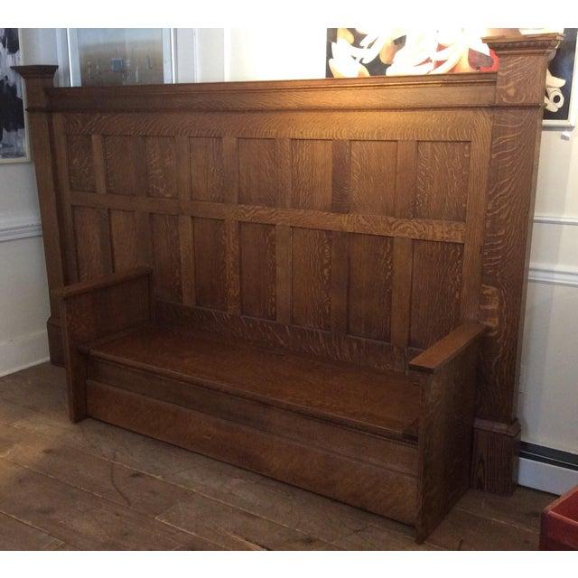 Vintage Sawn Oak Bench - Image 6 of 11
