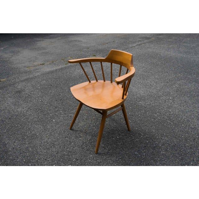 1960s Walnut Captain Chairs by George Nakashima- Set of 6 For Sale - Image 5 of 7