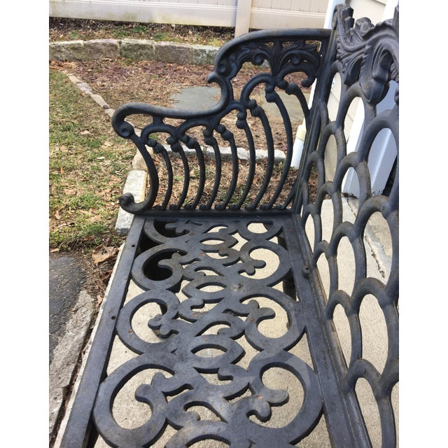 Cast Iron Garden Patio Bench - Image 9 of 11