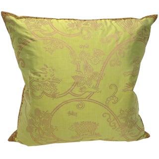 Baroque Celia Birtwell Silk Pillow For Sale