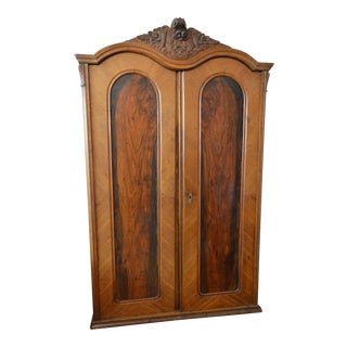 1920s Art Deco Mahogany/Maple Armoire For Sale