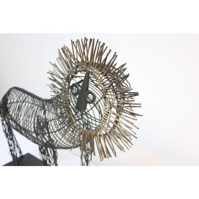 Brutalist Style Lion Wire Scupture For Sale In New York - Image 6 of 11