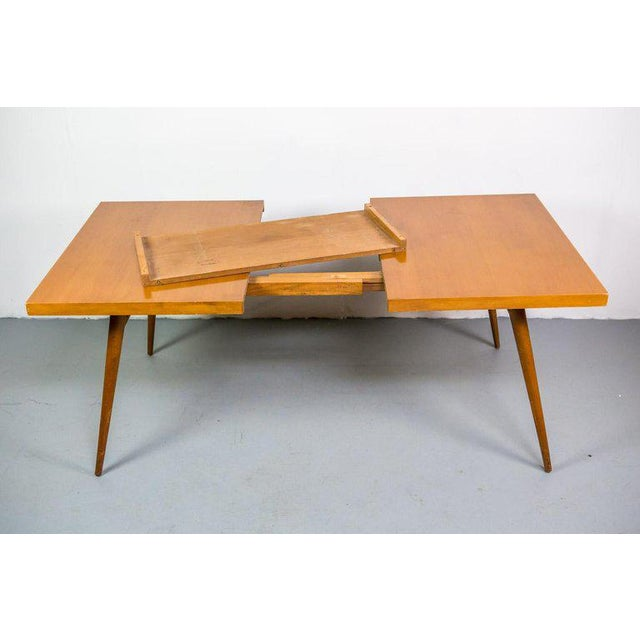 1950s Paul McCobb Planner Group Expandable Drop-Leaf Dining Table For Sale - Image 5 of 8