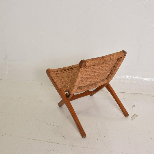 Mid-Century Modern Mexican Modernist Small Folding Chair After Clara Porset For Sale - Image 3 of 8