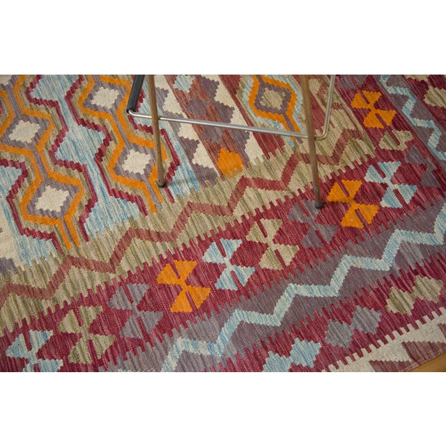"Contemporary Kilim Carpet - 7'10"" x 9'6"" For Sale In New York - Image 6 of 6"