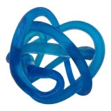 Image of Zanetti Glass Love Knot For Sale