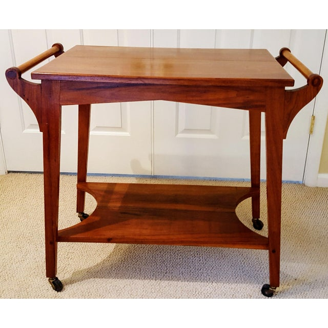 Mid-Century Teak Serving Cart - Image 2 of 6