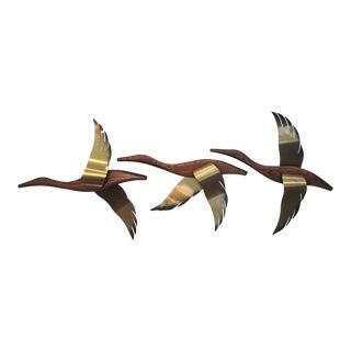 Mid-Century Masketeer Flying Ducks - Set of 3