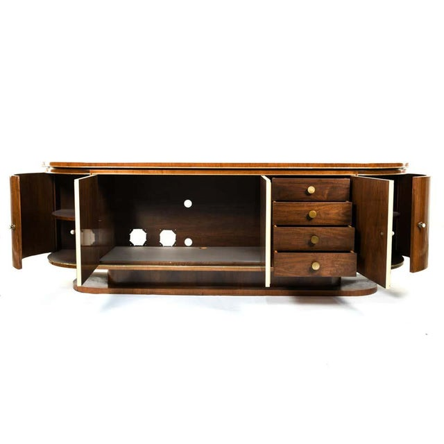 Art Deco French Art Deco Sideboard or Credenza With Parchment Front, Monumental For Sale - Image 3 of 13