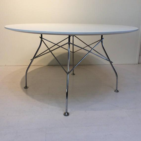 Kartell Glossy Round Table For Sale In Los Angeles   Image 6 Of 6