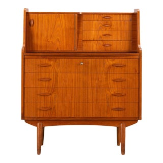 Midcentury Danish Teak Secrétaire from Spejl Kobberbeskytter, 1960s For Sale
