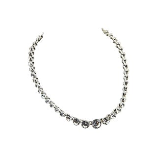 Monet Swarovski Crystal Riviera Necklace For Sale